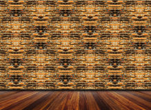 Brick interior and wooden floor Royalty Free Stock Photography