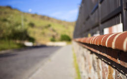 The Brick and Iron Wall Stock Photo