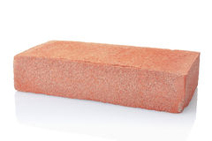 Brick isolated. On white, clipping path included Stock Photos