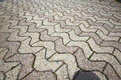Brick in  jerago  street lombardy italy  varese Royalty Free Stock Photography