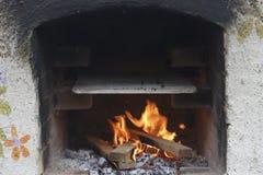 Brick kiln. Traditional brick kiln with fire ready to cook Royalty Free Stock Photos