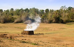 Brick kiln in forest Stock Photo