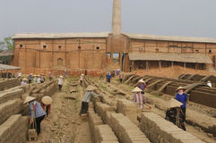 Brick kilns Royalty Free Stock Photo