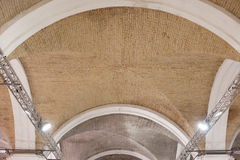 Brick lancet arch ceiling in the fortress Stock Images