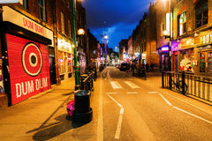 Brick Lane in the London district Shoreditch at night Stock Image