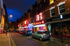 Brick Lane in the London district Shoreditch at night Royalty Free Stock Photos