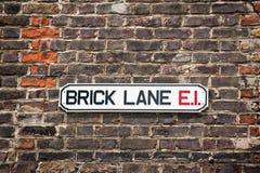 Brick lane Sign. London market Royalty Free Stock Images
