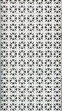 Brick lattice. White brick lattice from front of building Stock Images