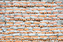 Brick Layer Wall. Bricklayer putting down another row of bricks in site Royalty Free Stock Photography