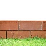 Brick layers on green grass Stock Photos