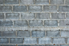 Brick laying and mortar pattern background. Detail Royalty Free Stock Image