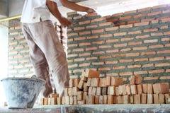 Brick laying Royalty Free Stock Image