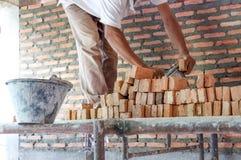 Brick laying Royalty Free Stock Photo