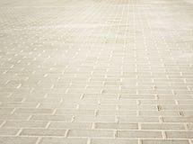 Brick light pavement Royalty Free Stock Image