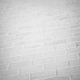 Brick light pavement in the city Stock Photos