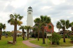 Brick lighthouse on St. George Island stock image