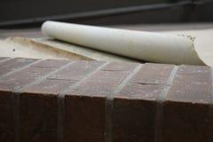 Brick and Linoleum Flooring Upclose royalty free stock photo