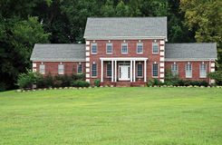 Brick Luxury Home 6. Brick luxury home with large grass yard.  Lots of Copy space Stock Photos