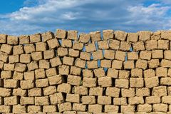 Brick made of clay and straw royalty free stock image