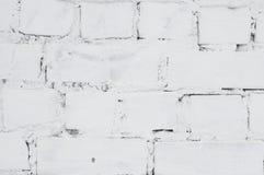 brick malowaniu ściana white Zakończenie Zdjęcie Royalty Free