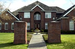 Brick Mansion. Large brick home built in Morgan Creek Estates, Vancouver, BC Royalty Free Stock Photos