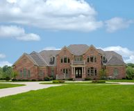 Brick Mansion in Kentucky USA Royalty Free Stock Image
