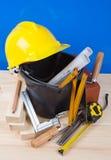 Brick and Mason construction tools Royalty Free Stock Image