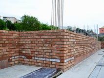 Brick masonry - construction site Royalty Free Stock Photos