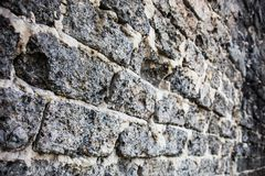 Brick masonry with rich and various texture Royalty Free Stock Photos