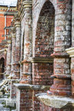Brick masonry of the vaults of an ancient monastery Royalty Free Stock Photography