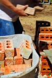 Brick Master at Work Stock Photo