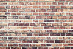 Brick medium cr. Background of red brick wall texture Royalty Free Stock Images