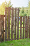 Brick and mettal fence Royalty Free Stock Photography