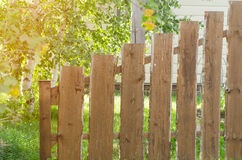 Brick and mettal fence Royalty Free Stock Photo