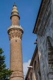 Brick minaret of the Ulu Cami Royalty Free Stock Photography