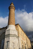 Brick minaret of the Ulu Cami Royalty Free Stock Photos