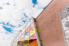 Brick modern shopping center Royalty Free Stock Images