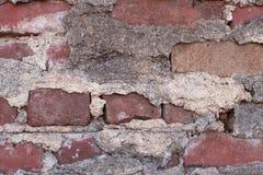 Brick And Mortar On Vintage Red Brick Wall Royalty Free Stock Image