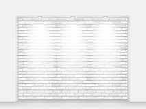 Brick niche with light Stock Photography