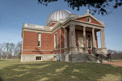 Brick Observatory Building. In Cincinnati, OH with majestic columns and silver dome royalty free stock images