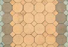 Brick octagonal walkway pavement texture Royalty Free Stock Photography