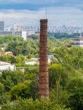 Brick old factory chimney royalty free stock photo