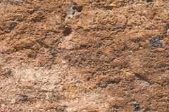 Brick from old pink tuff texture macro, selective focus Royalty Free Stock Image