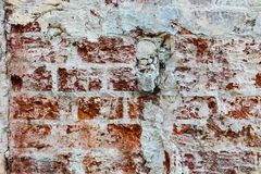 Brick old textured wall Royalty Free Stock Photo
