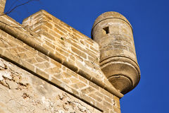 Brick in old   and   the tower near Royalty Free Stock Image