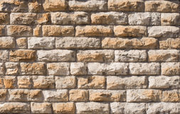 Brick old wall. Classic facade Stock Photos