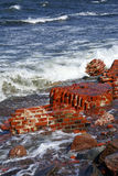 Brick On The Sea Royalty Free Stock Photography
