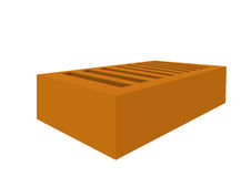 Brick one is isolated Stock Images