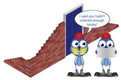 Brick order shortfall Stock Photos
