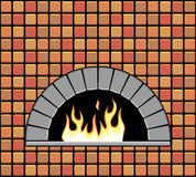 vector brick oven with empty hearth Royalty Free Stock Photo